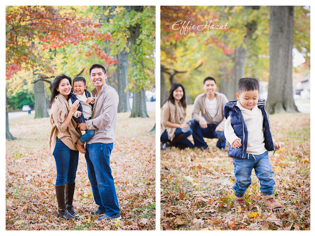 Family fall photo shoot alley pond parkqueens